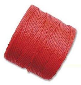 77 YD S-Lon Bead Cord : Bright Coral