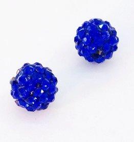 2 PC 6mm Bling Ball Royal Blue