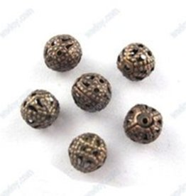24 PC ACP 6mm Filigree Round Bead
