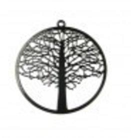 1 PC BLK 48mm Tree of Life Pendant