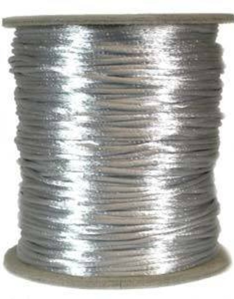 6 YD 2mm Size #1 Rattail : Silver
