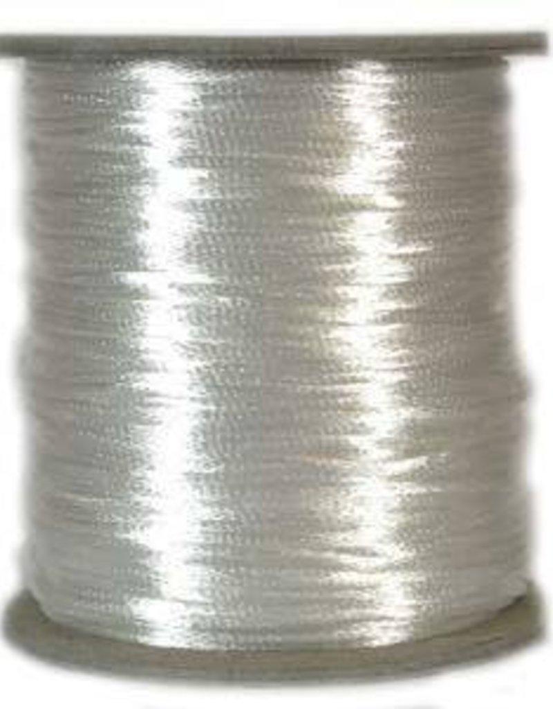 6 YD 2mm Size #1 Rattail : White