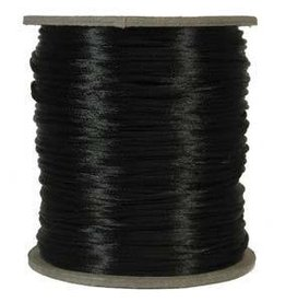 6 YD 2mm Size #1 Rattail : Black
