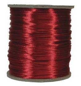 6 YD 2mm Size #1 Rattail : Red