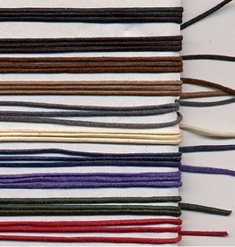 5 YD 1mm Waxed Cotton Cord : Stone Grey