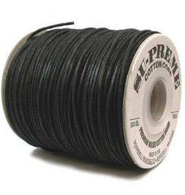5 YD 2mm Supreme Waxed Cotton : Black