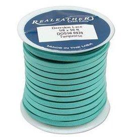 "2 YD 1/8"" Deerskin Lace : Turquoise"