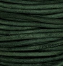 2 YD 1mm Leather Cord : Natural Turquoise