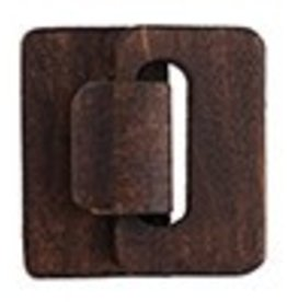 1 PC Brown Multi-Strand Wood Hook and Eye 4.5x4.8x1.2cm