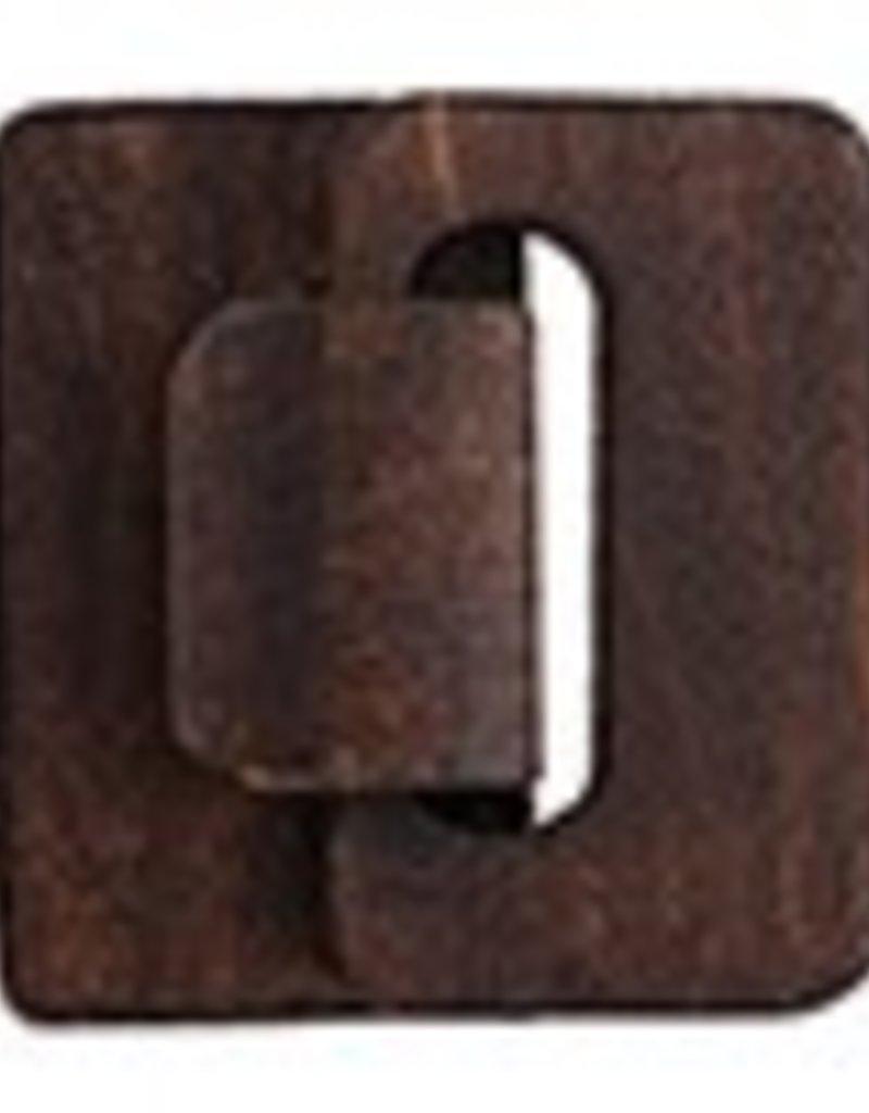 1 PC Brown Multi-Strand Wood Hook and Eye 4.5x4.8x1.2cm