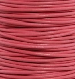 2 YD 1mm Leather Cord : Pink