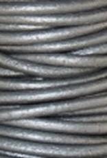 11 YD 1.5mm Leather Cord : Metallic Grey