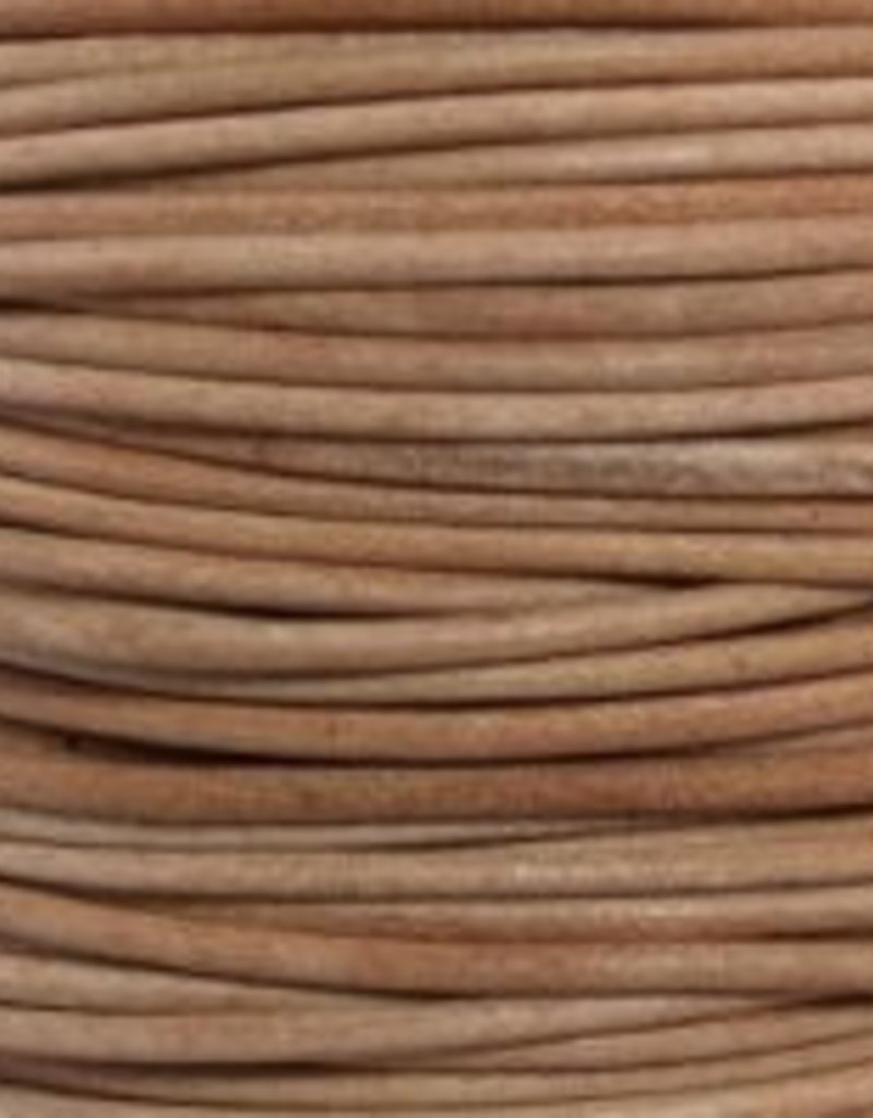 2 YD 1.5mm Leather Cord : Natural