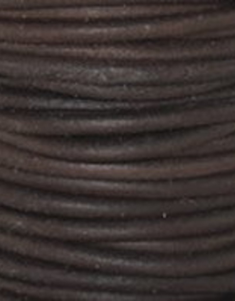 2 YD 1.5mm Leather Cord : Natural Antique Brown