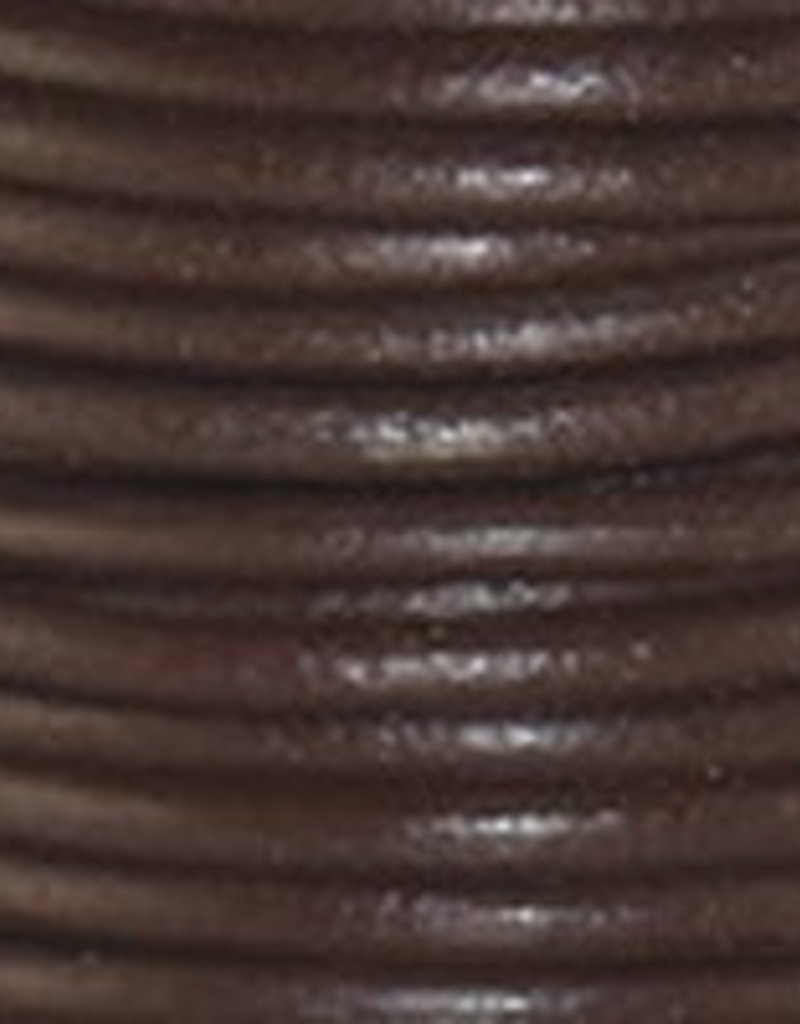 2 YD 1.5mm Leather Cord : Chocolate