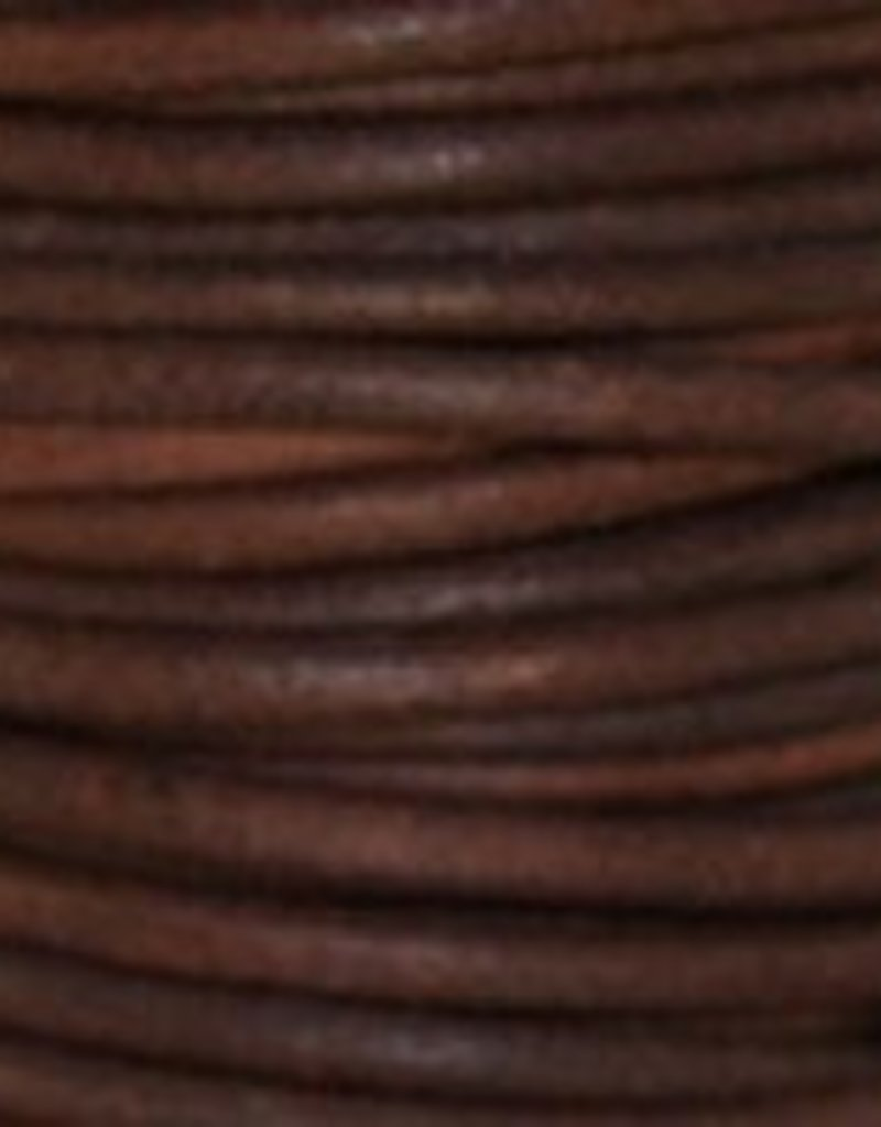 2 YD 1.5mm Leather Cord : Natural Red Brown