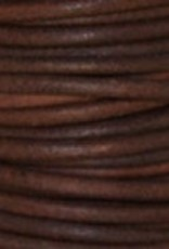 11 YD 1.5mm Leather Cord : Natural Red Brown