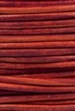 2 YD 1.5mm Leather Cord : Natural Red