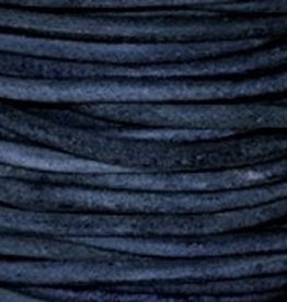 2 YD 1.5mm Leather Cord : Natural Blue
