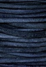 11 YD 1.5mm Leather Cord : Natural Blue
