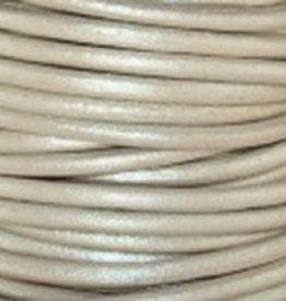 11 YD 2mm Leather Cord : Metallic Pearl