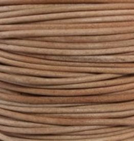 2 YD 2mm Leather Cord : Natural