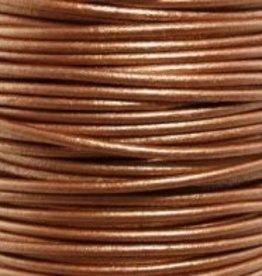 11 YD 2mm Leather Cord : Metallic Bronze