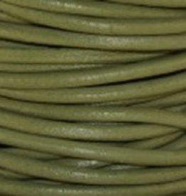11 YD 2mm Leather Cord : Absinth