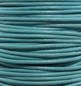 2 YD 2mm Leather Cord : Turquoise