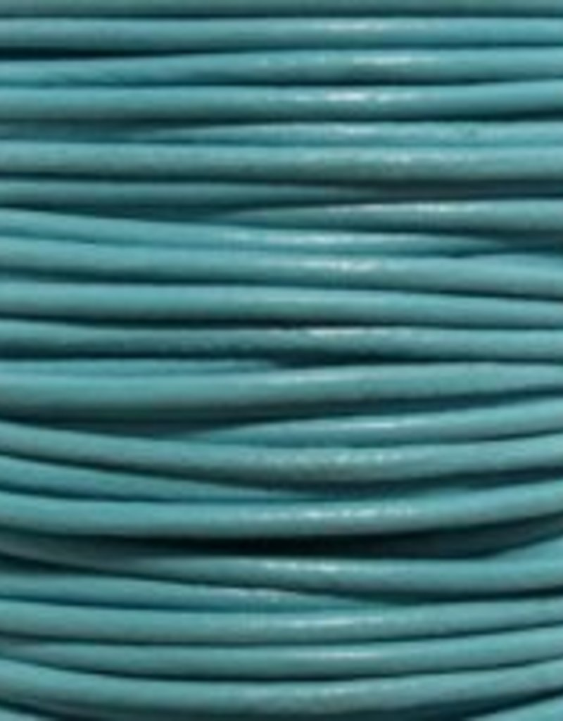 11 YD 2mm Leather Cord : Turquoise