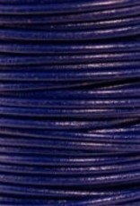 2 YD 2mm Leather Cord : Royal Blue