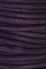 2 YD 2mm Leather Cord : Natural Violet