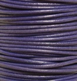 2 YD 2mm Leather Cord : Violet