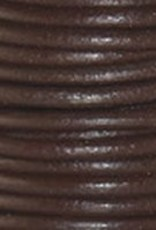 2 YD 2mm Leather Cord : Chocolate
