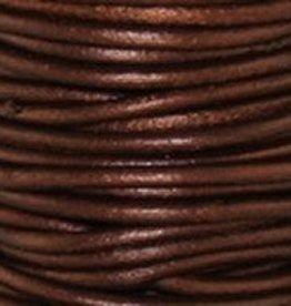 2 YD 2mm Leather Cord : Metallic Tamba