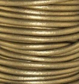 2 YD 2mm Leather Cord : Metallic Tota