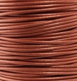 2 YD 2mm Leather Cord : Metallic Copper