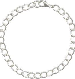 """1 PC SP 7.5-8.5"""" Curb Chain Bracelet"""