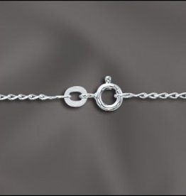 "1 PC 18"" Sterling Silver Filed Curb Chain w/ Springring"