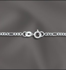 "1 PC 18"" Sterling Silver Figaro Chain w/ Springring"