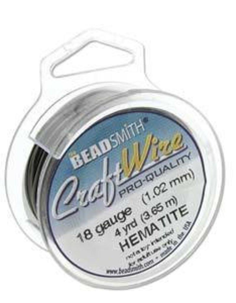 15 YD 26GA Craft Wire : Hematite