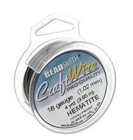 4 YD 18GA Craft Wire : Hematite