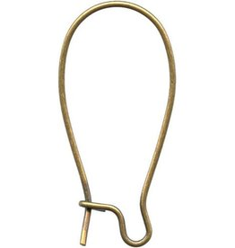 12 PC AGP 25x12mm Kidney Ear Wire