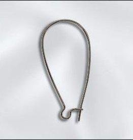 8 PC ASP 36x18mm Kidney Ear Wire