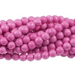 """Magnesite Pink Dyed : 8mm Round 15.5"""" Strand"""