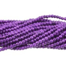 "Magnesite Dyed Purple : 4mm Round 15.5"" Strand"