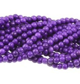 "Magnesite Dyed Purple : 6mm Round 15.5"" Strand"