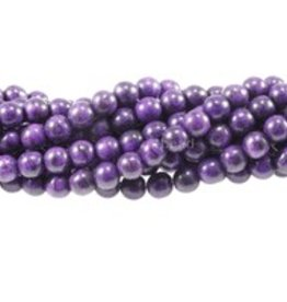 "Magnesite Dyed Purple : 8mm Round 15.5"" Strand"