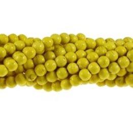 "Magnesite Dyed Yellow : 6mm Round 15.5"" Strand"