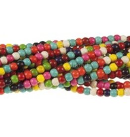 "Magnesite Dyed Multi : 4mm Round 15.5"" Strand"